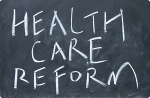 healthcare reform written on chalkboard